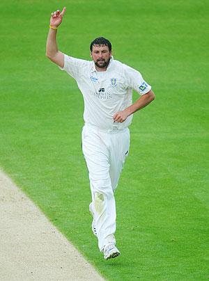 Durham bowler Steve Harmison