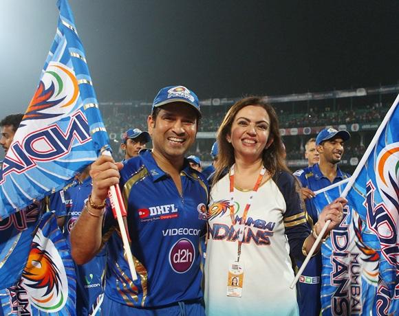 Sachin Tendulkar with Neeta Ambani