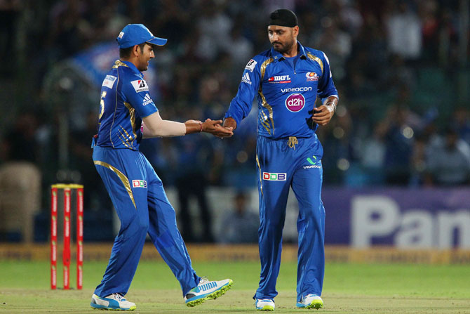 Rohit Sharma and Harbhajan Singh