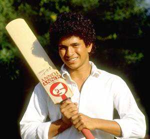 The young Sachin Tendulkar