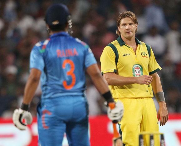 Suresh Raina (left) and Shane Watson