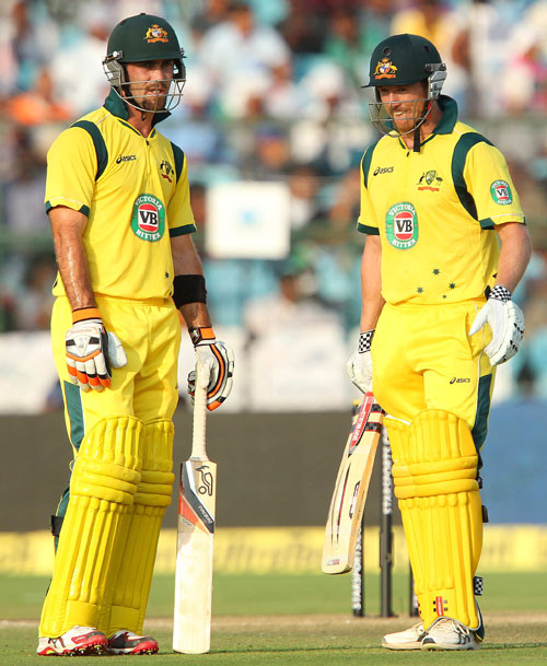 Glenn Maxwell and George Bailey of Australia