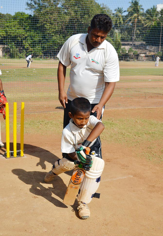 Naushad Khan works with Musheer in the nets