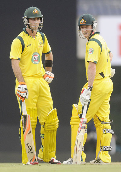 Glenn Maxwell and Geroge Bailey of Australia