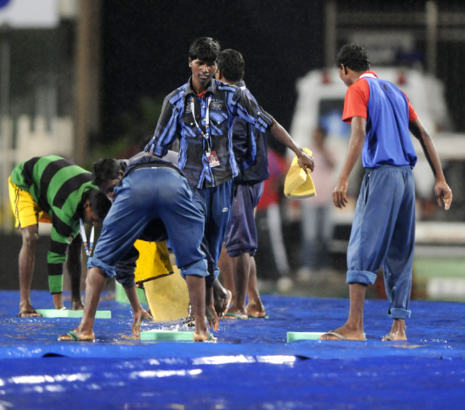 Groundsmen in Ranchi