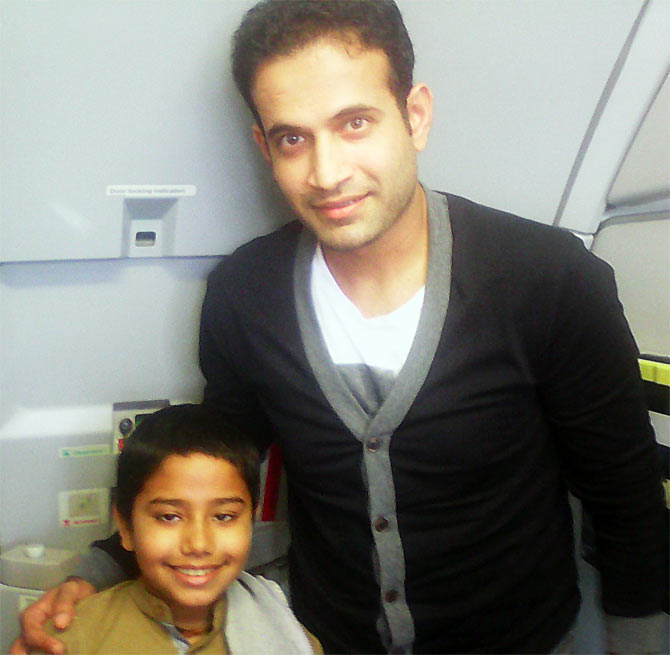 Spotted: Irfan Pathan on a flight to Bangalore