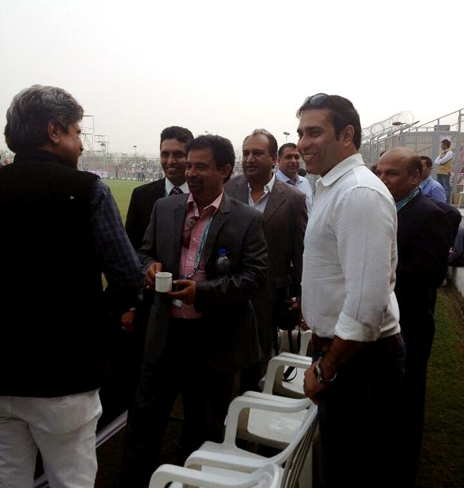 Kapil Dev, Chetan Sharma and VVS Laxman