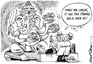 The offensive cartoon depicting the tussle between the BCCI and CSA