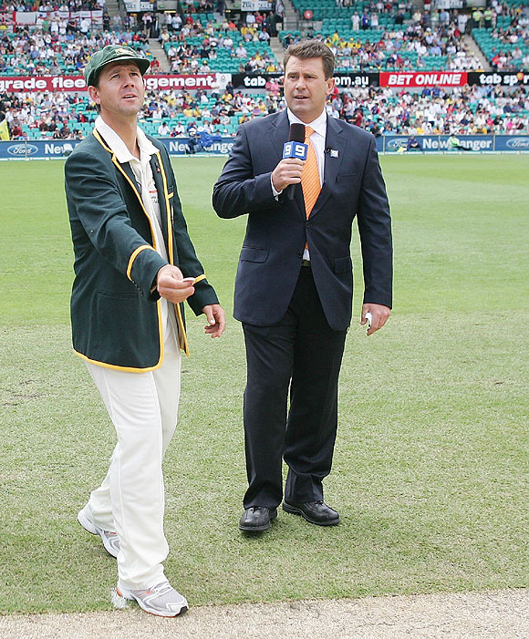 Ricky Ponting and Mark Taylor