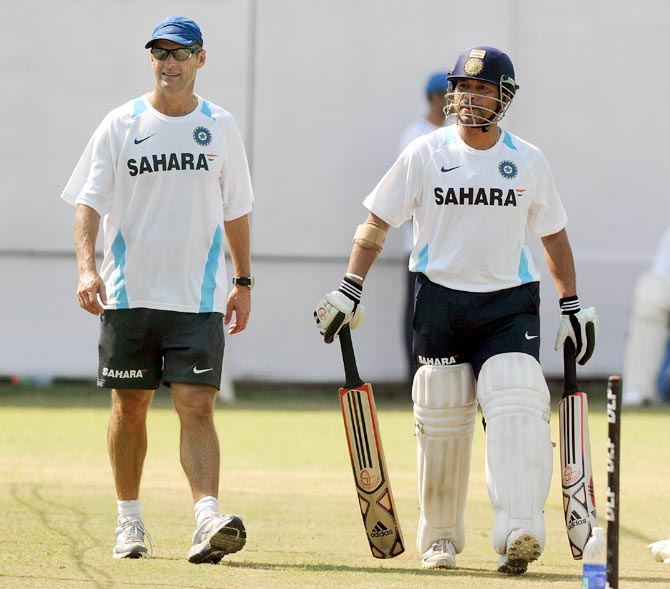 Gary Kirsten (left) with Sachin Tendulkar