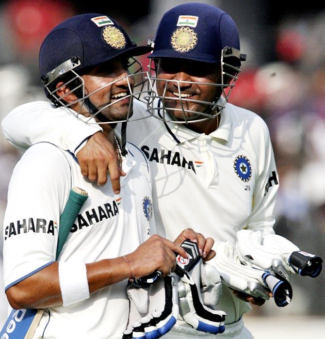 Virender Sehwag (right) with Gautam Gambhir