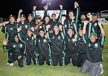 The Faisalabad team celebrates