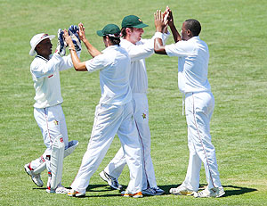 Zimbabwe players celebrate