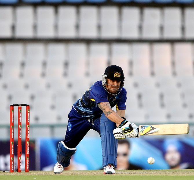 Otago Volts captain Brendon McCullum attempts to play the reverse sweep