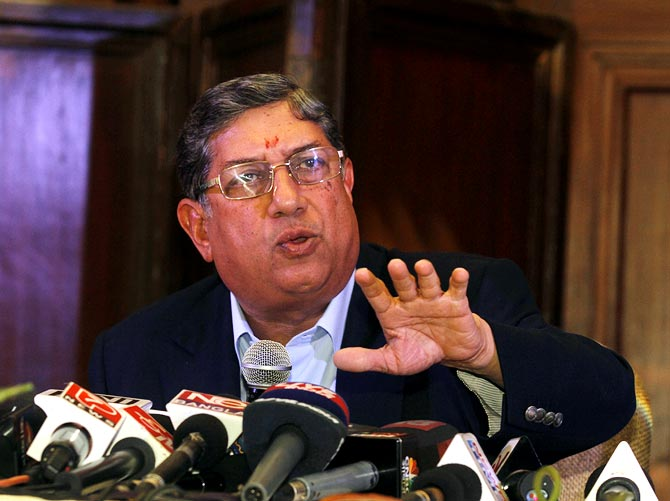 Neither am I disqualified nor can you push me out: Srinivasan