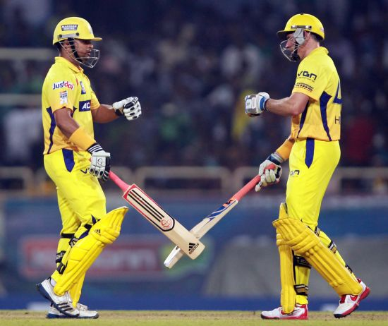 Suresh Raina and Mike Hussey