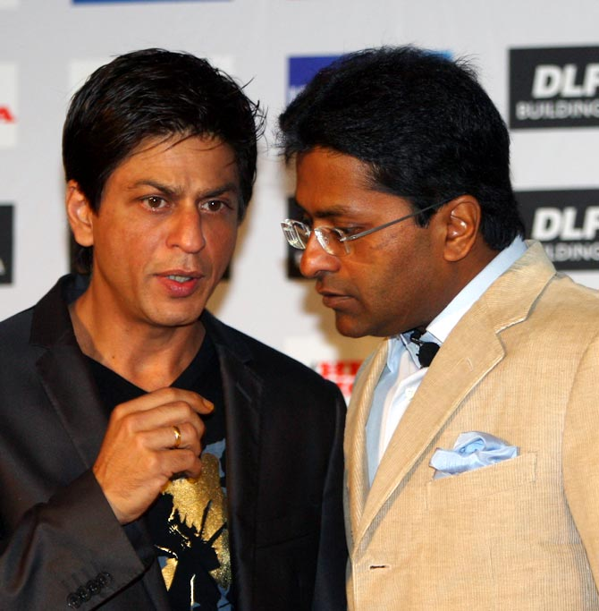 Lalit Modi with Shah Rukh Khan