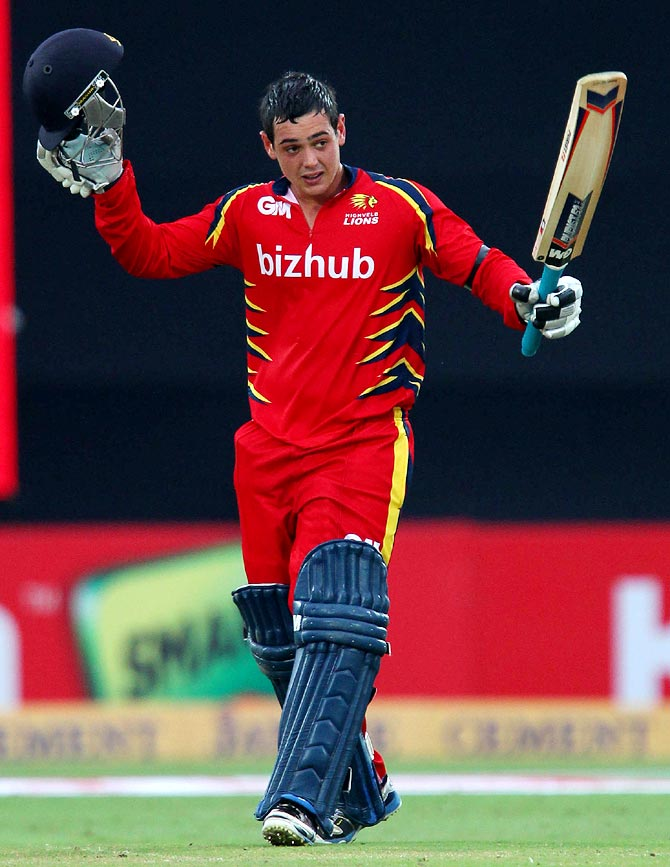 CLT20 PHOTOS: De Kock hits ton for Lions but Otago win in ... Quinton De Kock 2013