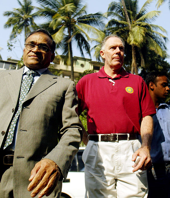Niranjan Shah with former India coach Greg Chappel