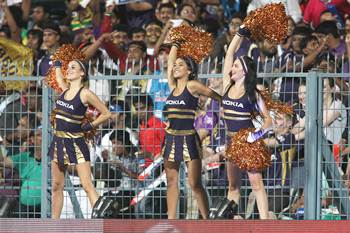Cheerleaders at an IPL match