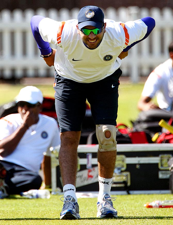 Yuvraj and his tryst with injuries at training...