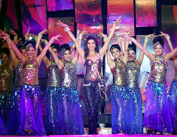 Deepika Padukone performs during the opening ceremony of the IPL 6