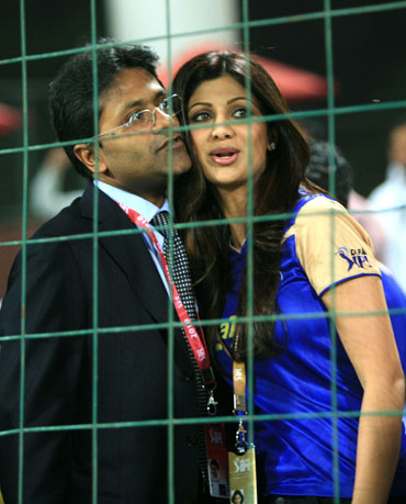 Lalit Modi with Shilpa Shetty
