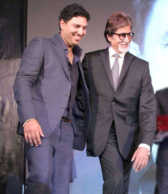 Yuvraj Singh with Amitabh Bachchan