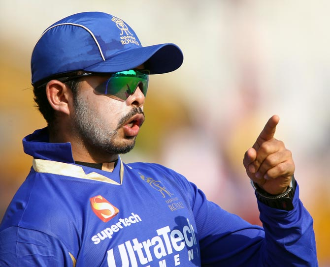 Tainted Rajasthan Royals player Shantakumaran Sreesanth