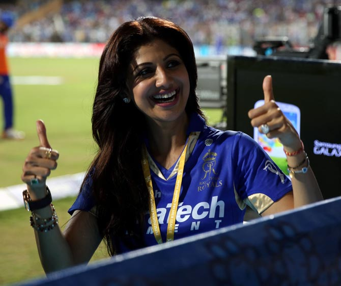 Rajasthan Royals owner Shilpa Shetty