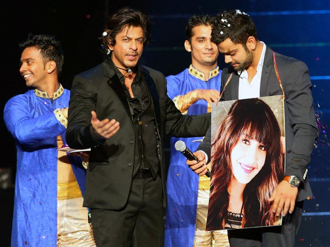 Shah Rukh Khan (left) with Virat Kohli
