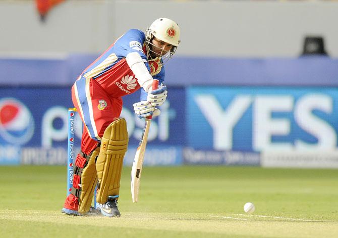 Parthiv Patel hits a shot