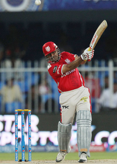 Virender Sehwag hits a shot