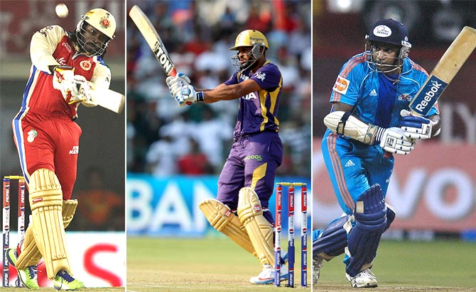Who hit the maximum sixes in a single edition of the IPL?