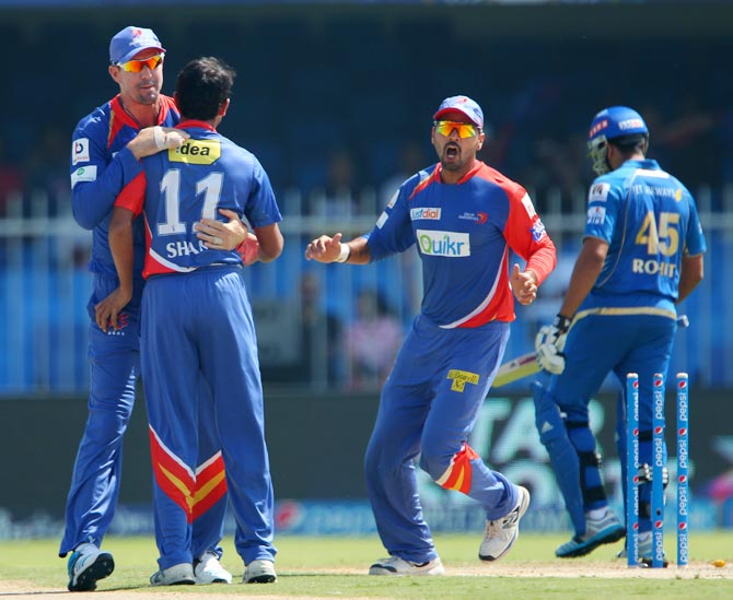 IPL PHOTOS: Champions Mumbai lose to Delhi for fourth straight defeat