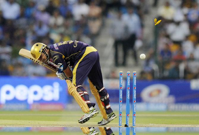 Gautam Gambhir has his stumps shattered