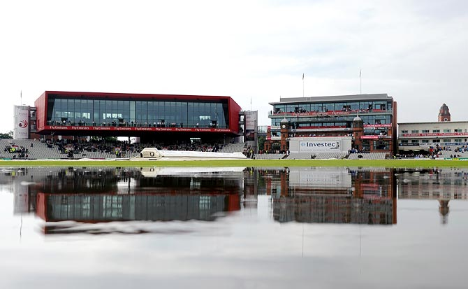 Third Test: Rain halts England's progress at Old Trafford