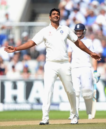 Pankaj Singh celebrates dismissing Joe Root