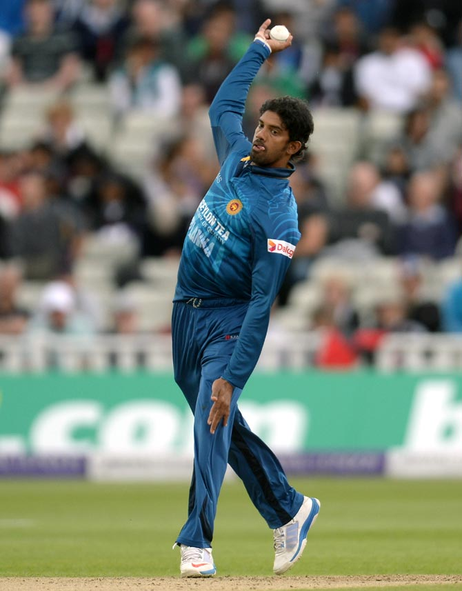 Sachithra Senanayake of Sri Lanka