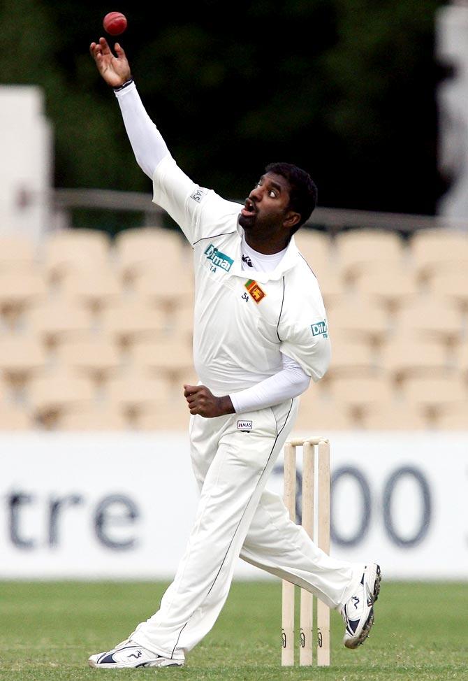 Muttiah Muralitharan of Sri Lanka