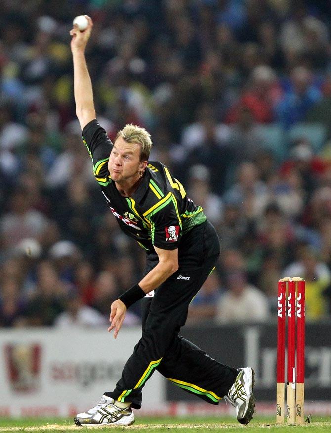 Brett Lee of Australia