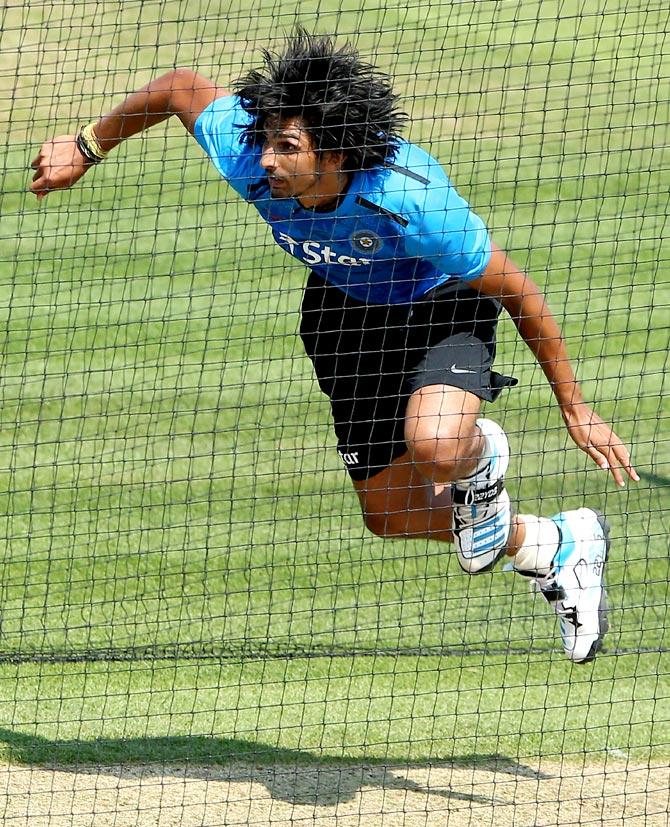 India's Ishant Sharma in the nets