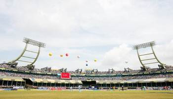 A general view of the Jawaharlal Nehru Stadium in Kochi.