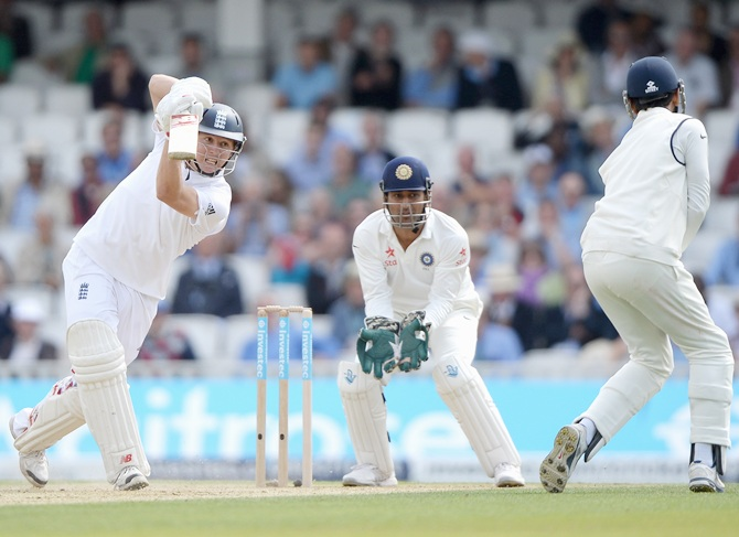 Gary Ballance of England bats during day two of 5th Investec Test match between England and India