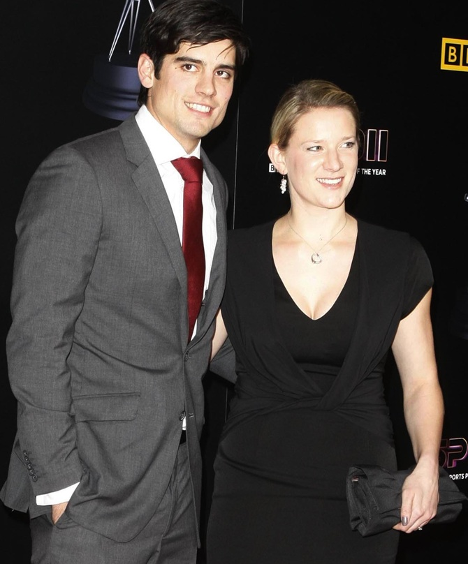 Alastair Cook and Alice Hunt