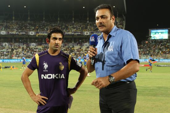 Ravi Shastri, right, and Gautam Gambhir
