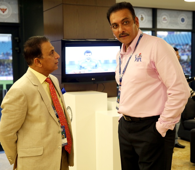 Sunil Gavaskar interim President of BCCI and Ravi Shastri