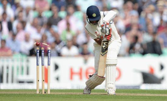 Cheteshwar Pujara is clean bowled