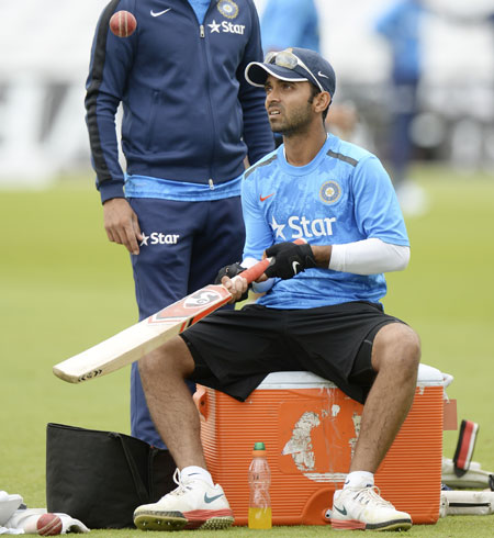 Ajinkya Rahane during a training session