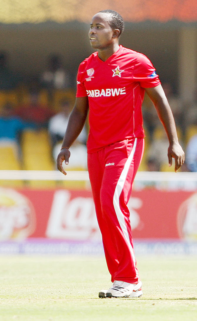 Prosper Utseya of Zimbabwe